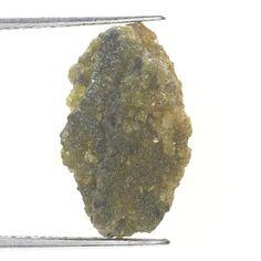 2.98 TCW Africn Natural Loose Raw Rough Diamond Natural Greenish Yellow Color