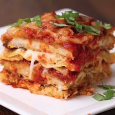 Chicken Parm Lasagna. With my sauce.
