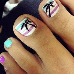 Palm Tree Toe Nail Designs Idea beach toe nail design with palm tree beachnail beach toe Palm Tree Toe Nail Designs. Here is Palm Tree Toe Nail Designs Idea for you. Palm Tree Toe Nail Designs topic for palm tree toenails summertime toes v. Simple Toe Nails, Cute Toe Nails, Love Nails, My Nails, Style Nails, Beach Toe Nails, Summer Toe Nails, Summer Beach Nails, Summer Pedicures