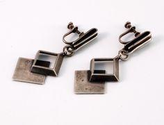 Earrings | Paul Lobel.  Sterling Silver