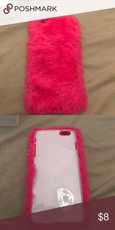 iPhone 6s fuzzy case For sale I have my iPhone 6s Plus fuzzy case. Used once or twice just upgraded phone so I can't use any of these cases. Accessories Phone Cases