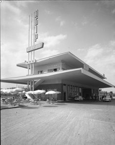 Agip Gas Stations. www.italianways.com/agip-gas-stations-art-on-the-road/  #architecture #italianways