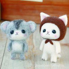 He encontrado este interesante anuncio de Etsy en https://www.etsy.com/es/listing/180943366/japanese-needle-wool-felt-mascot-diy-kit