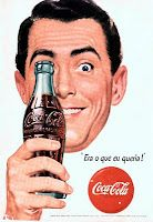 Coca-cola old, Brasil period 1944-98 (this man looks like he's had way too many Coca Colas)