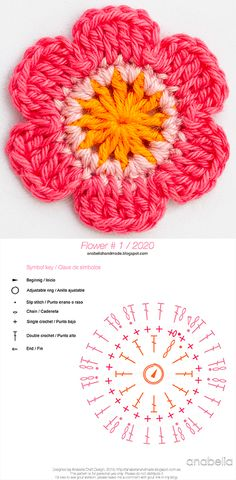 Anabelia craft design: Crochet flowers, free patterns, - Knitting patterns, knitting designs, knitting for beginners. Easy Knitting Projects, Knitting For Beginners, Crochet Projects, Start Knitting, Knitting Ideas, Fall Knitting, Loom Knitting, Beau Crochet, Mode Crochet