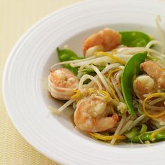 Stir-Fried Shrimp and Snow Peas in Orange Sauce Recipe | Weight Watchers
