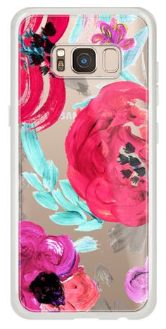 Casetify Galaxy Classic Snap Case - Mona Floral Clear by Crystal Walen