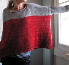 Tejidos - Knitted - ravelry: worsted boxy pattern by joji locatelli. Crochet Clothes, Diy Clothes, How To Purl Knit, Pulls, Knitting Projects, Hand Knitting, Knit Crochet, Crochet Pattern, Knitwear