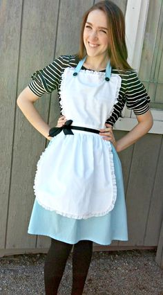 Alice in Wonderland Costume Adult Apron Disney princess inspired