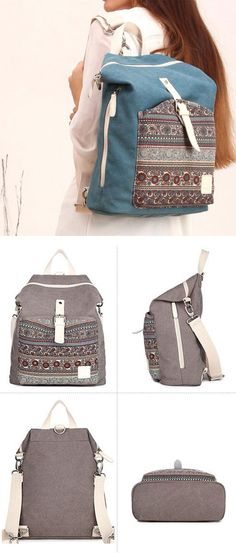 d0b9ef7405a1 Folk National School Bag Ladies Canvas Backpack Totem Women Rucksack.  Animal BackpacksCute BackpacksGirl ...