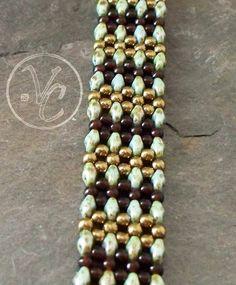 Beaded Bracelet Tutorial RAW using Super Duos Bead Pattern