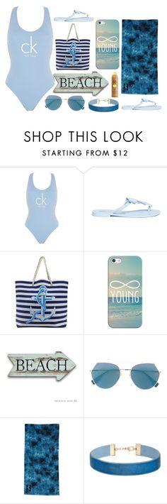 """Beach day"" by dakota4-1 on Polyvore featuring Calvin Klein, Melissa, Casetify, Fendi, Sun Bum, Billabong and Miss Selfridge"