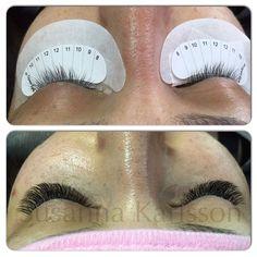 Monday morning, can't really brain yet, decided to try #lashmap from @lashaffairbyjp on my client, turned out really nice! #volumelashes #volym #volymfransar #ögonfransförlängning #eyelashextensions #lashporn #lashextensions