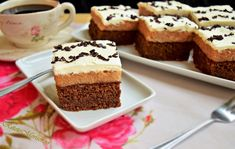 Brownie cu cremă de mere și frișcă Nutella, Tiramisu, Cheesecake, Food And Drink, Cooking, Ethnic Recipes, Desserts, Kitchen, Tailgate Desserts