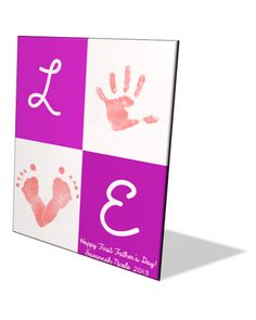 Personalized Baby Handprint/ Footprint Art by OurLittleMoments