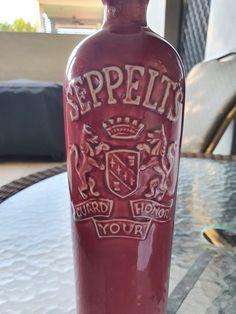 Crown Lynn Seppelts Wine Bottle | Trade Me Whiskey Bottle, Crown, Wine, Food, Corona, Essen, Meals, Crowns, Yemek