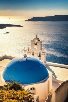 Blue dome church, Firostefani, Santorini