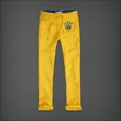 Men's Abercrombie & Fitch Hollister Classic Fit Sweatpant Yellow Size Medium $29.99