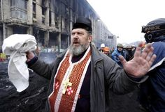 Dramatic photos: Ukraine's priests take an active role in protests - The Washington Post