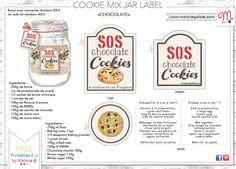 Diy Etiquette Pour Sos Cookies En Bd Etiquette Jar And Noel