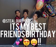It's my best friends birthday💕👏😛! My Best Friend's Birthday, Birthday Posts, Birthday Gifts For Teens, Birthday Ideas, 20th Birthday, Birthday Board, Birthday Cake, Birthday Countdown, Birthday Wishes