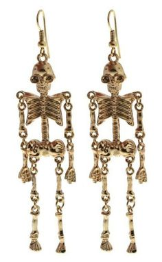 George and Clowneey Gold Dangle Earrings
