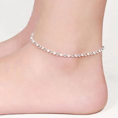 Express your personal style with a new anklet. and get ready to hit the beach in style with our Ankle Bracelet Chain . Item Type: Anklets Style: Trendy Length: 23+5 cm Shapepattern: Round Length: adj