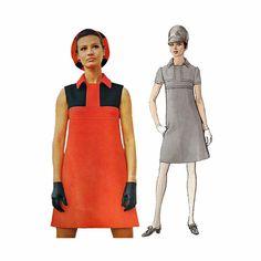 Vintage 1960s Shift Dress Pattern Bust 32 1/2 by RedcurlzsPatterns