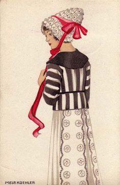 ¤ Wiener Werkstatte postcard #589 Mela Koehler.