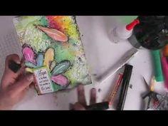 Mixed Media Canvas board Tutorial - YouTube