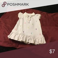 Girl infant dress 100% cotton White and button down and multicolor Polo by Ralph Lauren Dresses Casual