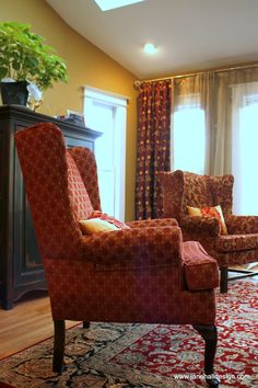 Interior design job and custom made furniture  and drapes from Jane Hall Design