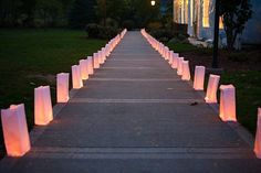 Darci Enlisted The Help Of Her Mom To Diy 100 Paper Bag Luminaries Perfect For A Wedding Aisle Decor