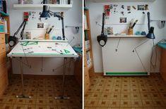 Mesa de dibujo/estudio plegable