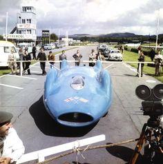Bluebird CN7 displayed at Goodwood