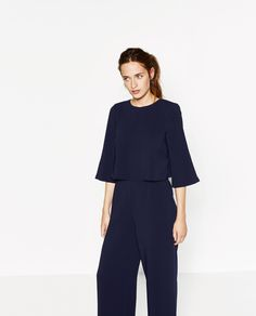 Image 2 of JUMPSUIT WITH CROSSOVER BACK from Zara