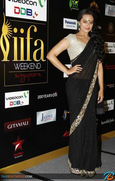 Sonakshi Sinha went the Indian way in that black saree