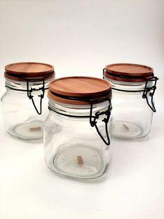 Teak Lid Storage Jars