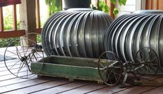 With the new Cinderella movie out this year, and coming across this little vintage wagon over Labor Day weekend, I decided to turn one of my turbine pumpkins fr�