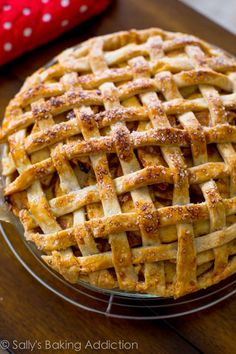 Salted Caramel Apple Pie. The holy grail of caramel apple desserts!