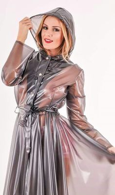 Pvc u like Vinyl Raincoat, Pvc Raincoat, Plastic Raincoat, Black Raincoat, Raincoat Jacket, Imper Pvc, Latex Lady, Sexy Legs And Heels, Latex Dress