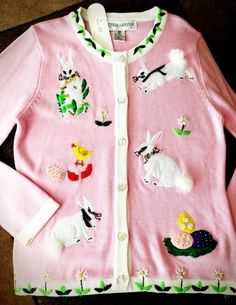 Victoria Harbour Bunny Easter Sweater Size Medium | eBay $34.99