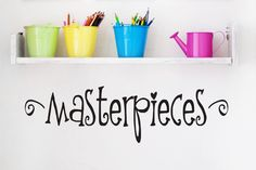 Playroom Wall Decals - Masterpiece Decal - Childrens Wall Decals - Childrens Art. $15.00, via Etsy.