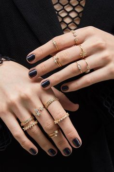 Rue Gembon Roux Gold Ring Set #coolrings