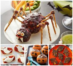 Before heading out for a night of costumes and candy, host a spooky soirée with Halloween games and healthy treats you won't need to trick your kids into eating.