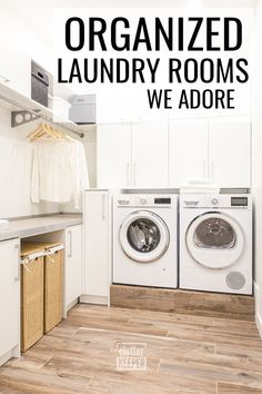Learn everything you ever wanted or needed to know about laundry room organization. Whether you have a small laundry closet or an entire room, you'll find both DIY storage ideas on a budget and more conventional space saving tips. #clutterkeeper Small Laundry Closet, Mudroom Laundry Room, Kitchen Cabinet Organization, Home Office Organization, Organization Hacks, Declutter Your Home, Organizing Your Home, Diy Storage, Storage Ideas