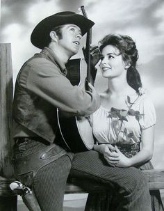Clu Gulager as Billy the Kid and Marianna Hill as Rosita - The Tall Man NBC-TV western Gaucho, Cowgirls, Tall Guys, Tall Man, Marianna Hill, Usa Tv, James Drury, Billy The Kids, Tv Westerns