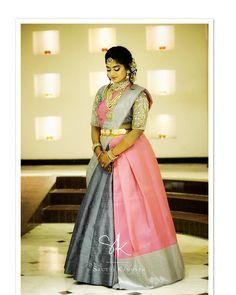 Image may contain: 1 person, standing Lehanga Saree, Lehenga Saree Design, Half Saree Lehenga, Lehenga Style, Lehenga Designs, Saree Dress, Anarkali, Drape Sarees, Saree Draping Styles