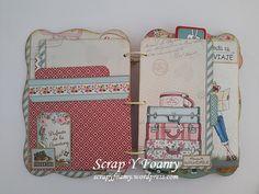 Mini Scrapbook Albums, Mini Albums, Agenda Planning, Travel Album, Junk Journal, Binder, Decoupage, Origami, Lunch Box