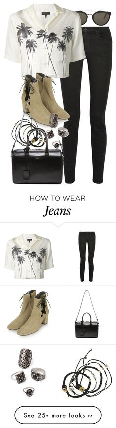 """""""Untitled #7054"""" by nikka-phillips on Polyvore featuring RetroSuperFuture, Proenza Schouler, rag & bone, Topshop, Scosha, Forever 21 and Yves Saint Laurent"""